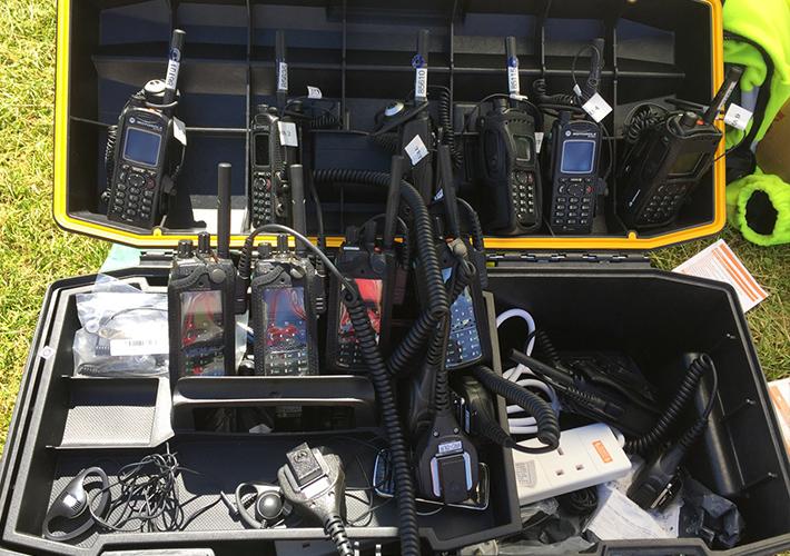 Tetra radios at Longitude 2016